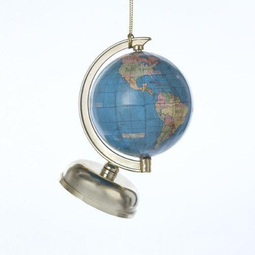 "3.75"" All Around the World Globe Christmas Ornament"