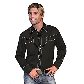 Scully Men's Vintage Western Shirt - P-726 Turquoise