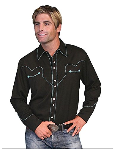 Scully Men's Vintage Western Shirt - P-726 Turquoise 0