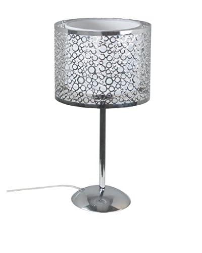 Tafellamp zilver / wit