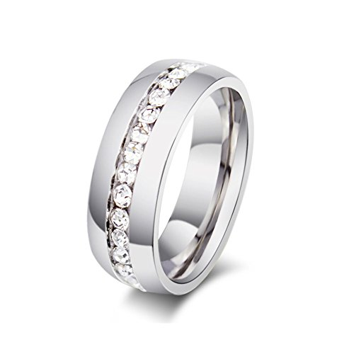 Zealmer Titanium Wedding Band Engagement Ring Soliaire CZ Cubic Zirconia Princess Size 10 (Ring For Men compare prices)