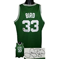 Larry Bird Autographed Hand Signed Boston Celtics Green Authentic Adidas Swingman... by Hall of Fame Memorabilia