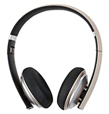 buy Sgin Ah230 Bluetoth Folding Metal Hi-Fi Stereo Headphones For Iphone/Tablet And More Equipment(Gold)