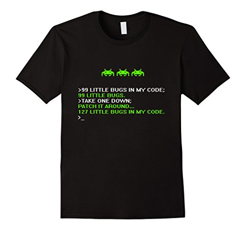 Men's Debugger Funny Shirt - Programmer - coding - Hacker Medium Black