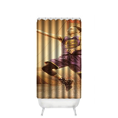 """Hot Kitchen Custom Stephen Curry Waterproof Soap Resistant Shower Curtain 36"""" x 72"""""""