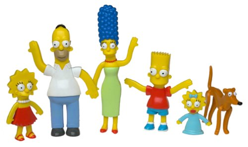 Picture of NJ Croce Company The Simpsons Bendable-Poseable Limited Edition 6-Piece Collectible Set - Series 1 Figure (B0000859U1) (NJ Croce Company Action Figures)