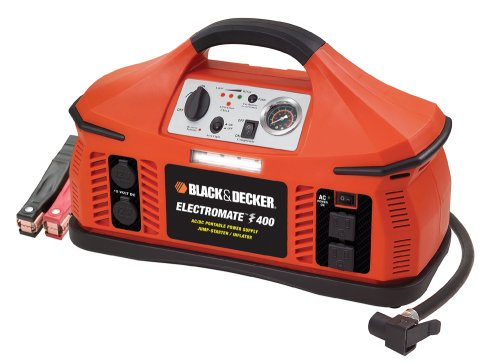 Black & Decker VEC026BD Electromate 400 Jump-Starter with Built-In Air Compressor