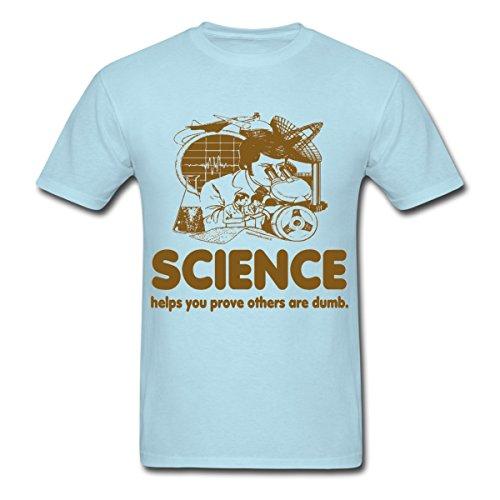 Spreadshirt Men'S Science T-Shirt, Sky Blue, M
