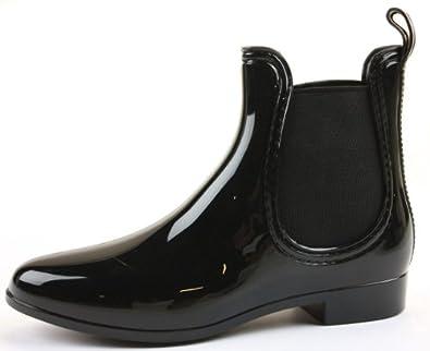 Ladies Flat Low Heel Pixie Chelsea Wellington Winter Ankle Boots Black Size 3