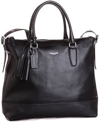 Coach Legacy Leather Rory Satchel, Black