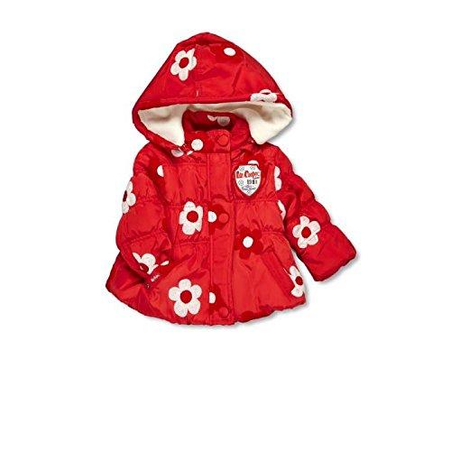Lee Cooper-Parka con cappuccio per neonato, da femminuccia rosso 18 mesi