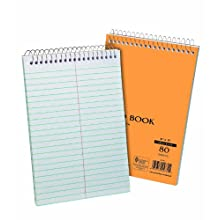 Ampad 25-472R Spiral Steno Book, Gregg Rule, 6x9-Inches, White, 70 Sheets, 2 Pack