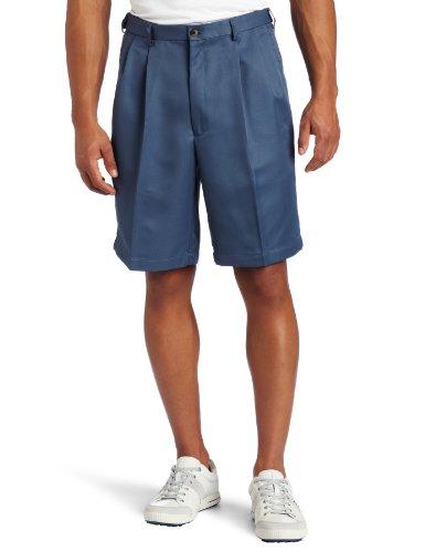 Haggar Men's Big-Tall Cool 18 Gabardine Hidden Expandable Waist Pleat Front Short,Cadet Blue,48 (Haggar Cool 18 compare prices)