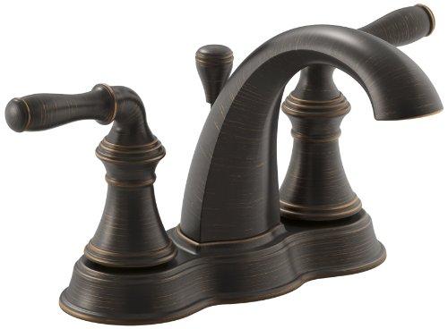 Kohler K-393-N4-2BZ Devonshire 4-Inch Centerset Lavatory Faucet, Oil Rubbed Bronze