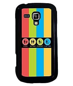 PRINTVISA Grading Symbol Premium Metallic Insert Back Case Cover for Samsung Galaxy S Duos 2 S7582 - D5696