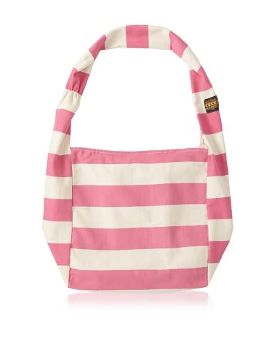 Vine Street Market Women's Wide Stripe Canvas Large Market Tote, Pink As You See