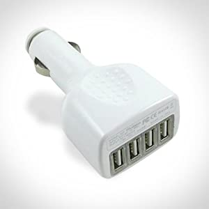 XTG Technology 4-Port USB Car Charger - Quad Auto Power - Ideal for iPod, iPhone, GPS, Cell Phones from XTG Technology
