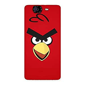 Delighted Red Yelo Peak Back Case Cover for Canvas Knight A350