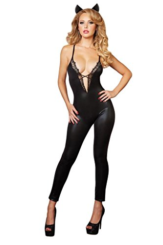 Sexy Stretchy Wet Boudoir Look Cat Woman Costume