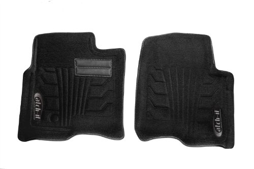 Black Nylon Carpet Coverking Custom Fit Front Floor Mats for Select Mitsubishi Montero Models