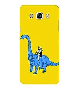 EPICCASE Batman On Dinasour Mobile Back Case Cover For Samsung J5 2016 (Designer Case)