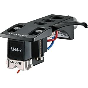 Shure M44-7-H Turntablist Record Needle Mounted on Technics Headshell