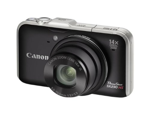 Canon PowerShot SX230 HS (12.1 MP, 14x optical zoom) black