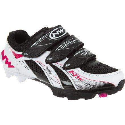 Northwave Vega Womens Mountain Cycling Shoe White Black Fuchsia – 41
