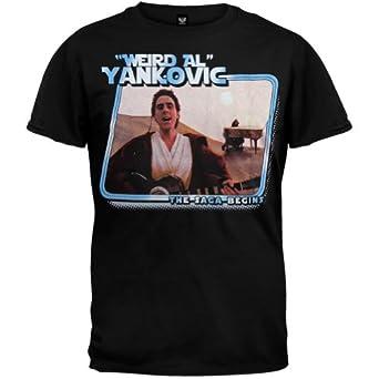 Weird Al Yankovic - Mens The Saga Begins T-shirt X-Large Black