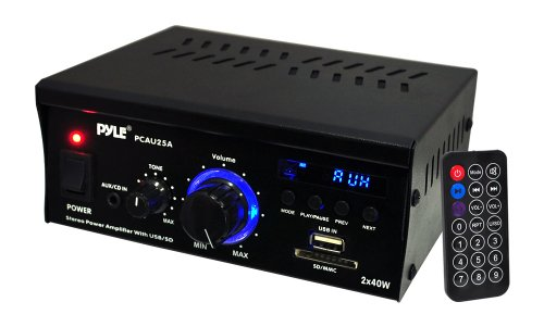 Great Deal! Pyle Home PCAU25A  2 x 40 Watts Mini Power Amplifier with LED Display