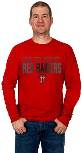 Texas Tech University Red Raiders Men's Long Sleeve Cotton T-Shirt
