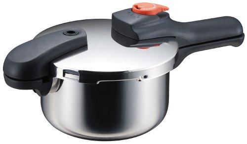 パール金属 節約クック ステンレス製圧力切替式片手圧力鍋2.5L H-5434