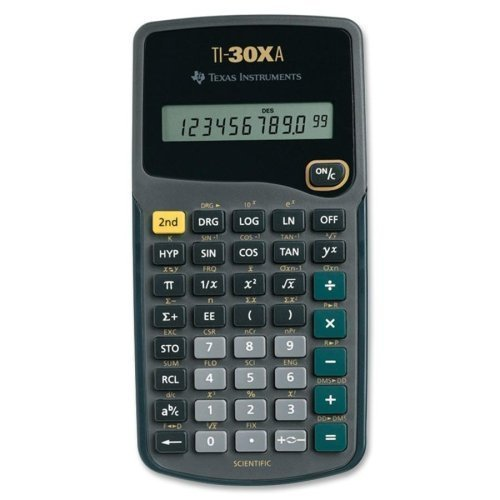 Texas Instruments TI30XA Scientific Calculator - 10 Character(s) - Battery Powered - 6 x 3.1 x 0.8 - Black
