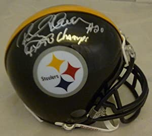Rocky Bleier Autographed Pittsburgh Steelers Riddell Mini Helmet w 4x Champs by DenverAutographs