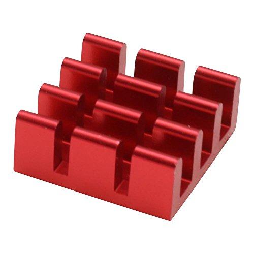 The Pi Hut Heatsink for Raspberry Pi - Red