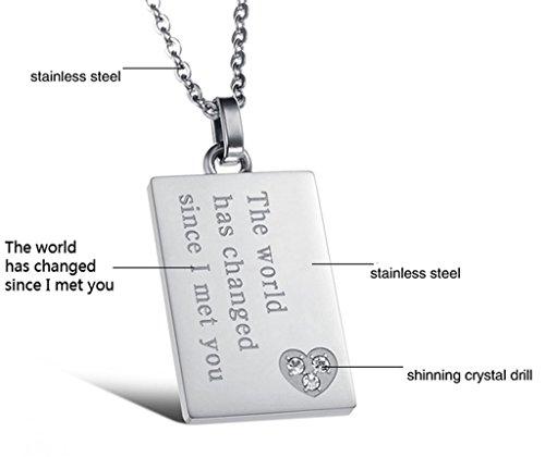 alimab gioielli in acciaio inossidabile con catena collane per lui o lettere Tag, Acciaio inossidabile, colore: Silver, cod. Linmayitg765