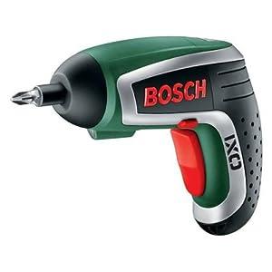 Bosch IXO HomeSeries Akkuschrauber + 10 Standard-Schrauberbits + Ladegerät (3,6 V, 1,3 Ah)