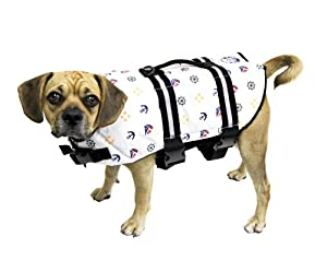 Paws Aboard Large Designer Doggy Life Jacket Nautical Print by Paws Aboard