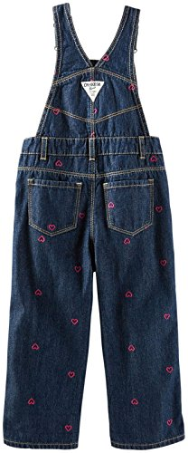 OshKosh B'gosh Little Girls' Denim Overalls (Toddler) - Blue - 3T