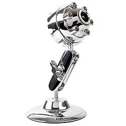 Chrome Metal Webcam - Stylish + Bendable Design