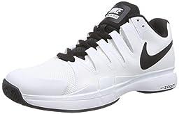Nike Men\'s Zoom Vapor 9.5 Tour White/Black/Black Tennis Shoe 9 Men US