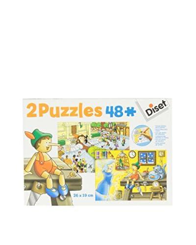 Diset 2 Puzles 48 Piezas Pinocho/ Viajes De Gulliver
