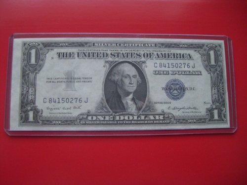 1935 G $1 Silver Certificate One Dollar Blue Seal Bill Note C 84150276 J