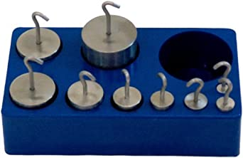 United Scientific, Stainless Steel Hooked Weight Set, (77740)