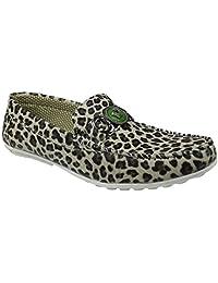 Featherz Cheetah Design Slipon Loafers For Men