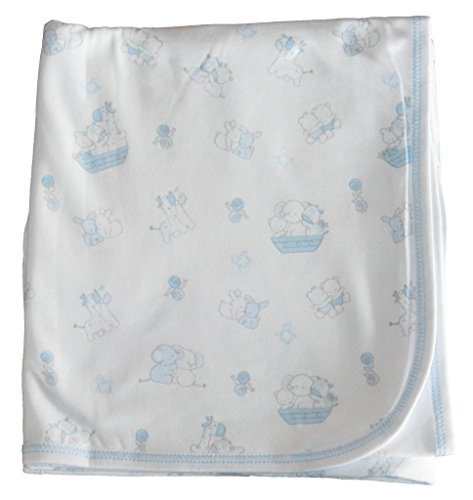Kissy Kissy Baby-Boys Infant Our Ark Print Receiving Blanket - 1