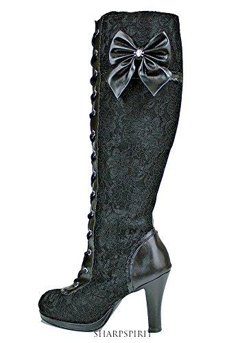 Vintage Style Victorian Lace Up Bridal Boho Chic Romantic Women's Boots 1