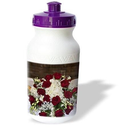 Wb_83196_1 Danita Delimont - Weddings - Love, Red And White Floral Centerpiece, Wedding - Li05 Jen0005 - Jim Engelbrecht - Water Bottles front-277696