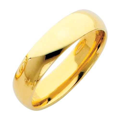 *** LASER ENGRAVING SERVICE *** 14K Yellow Gold 5mm COMFORT FIT Plain Wedding Band Ring for Men & Women (Size 4 to 12) [DETAIL INFORMATION - PLEASE CLICK AND CHECK THE ITEM DESCRIPTION] - Size 4.5