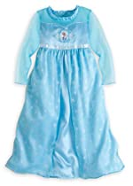 Disney Store Frozen Princess Elsa Nightgown Girls Size Small 5/6 (5T)